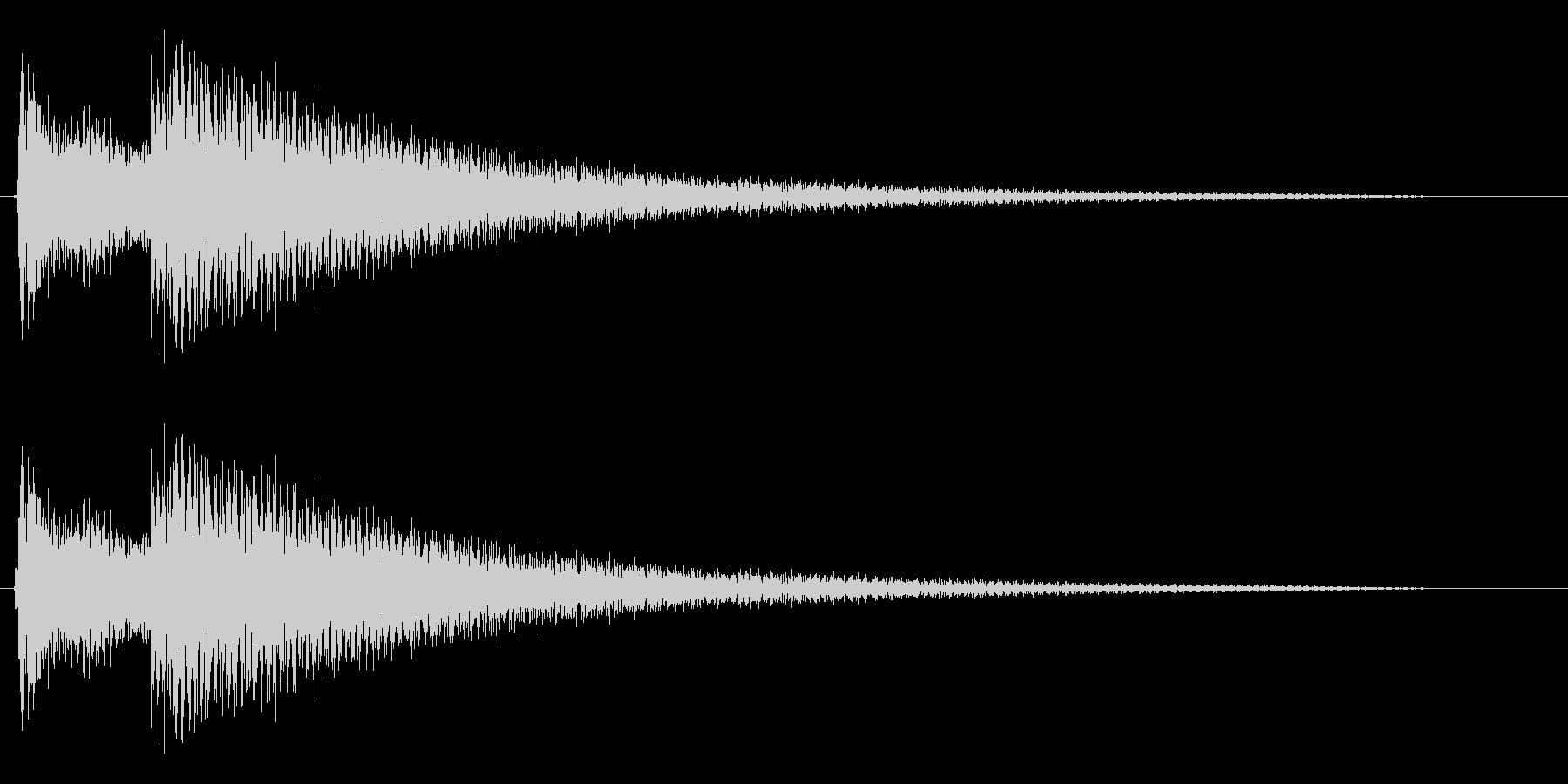 コカ〜ン(ベルの音色)の未再生の波形