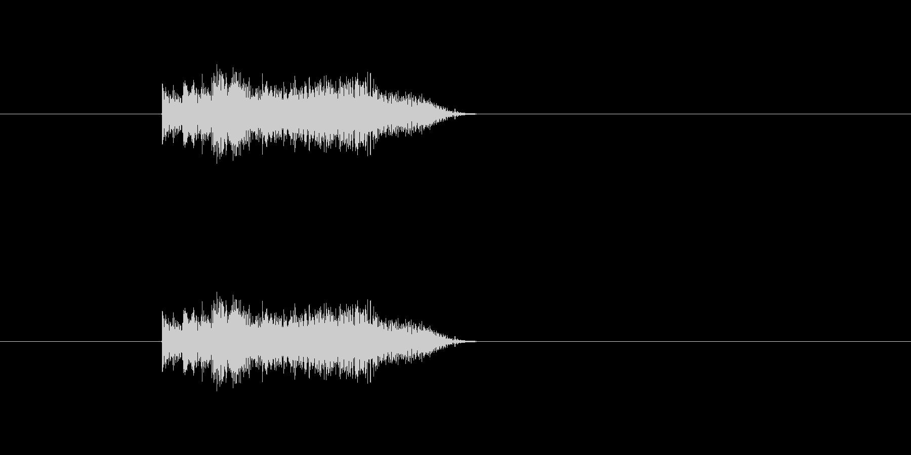 ギターのピックスクラッチ音ですの未再生の波形