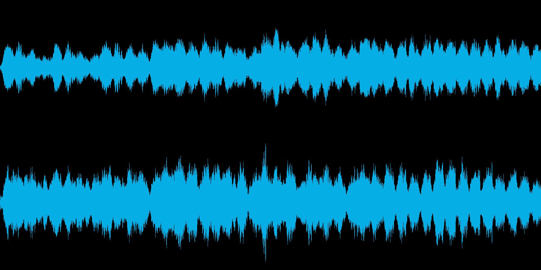 ダーク、ホラー、恐怖の演出 ループ素材の再生済みの波形
