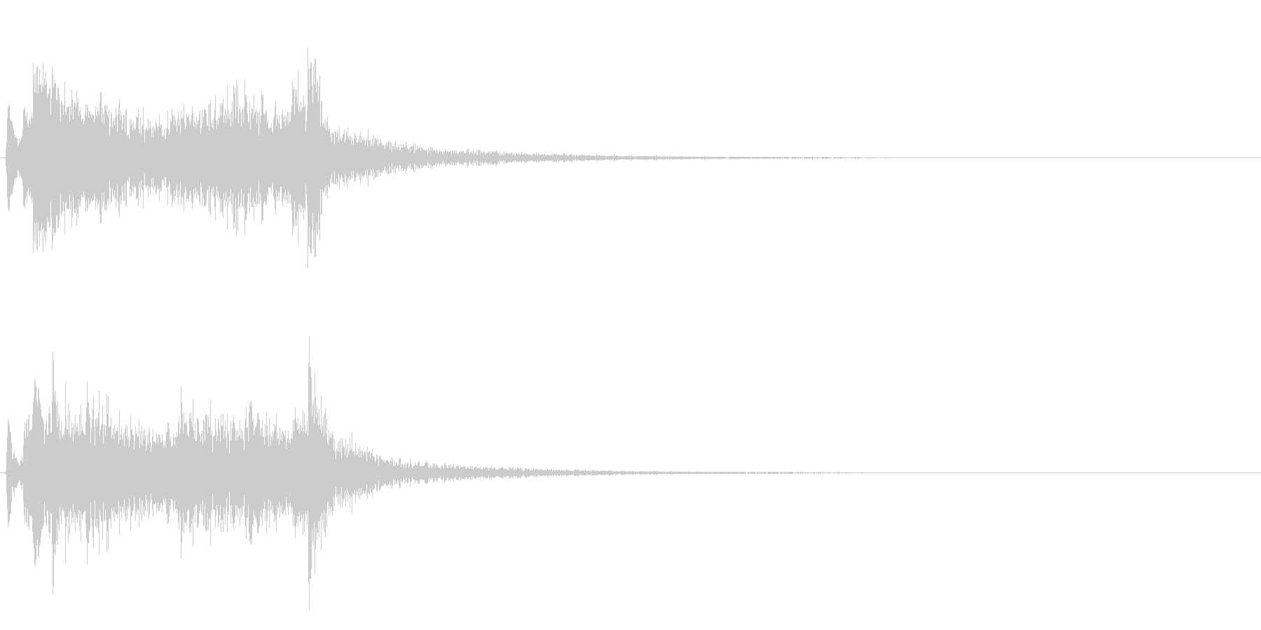 テレレレン…テレレレ…琴の代表的フレーズの未再生の波形