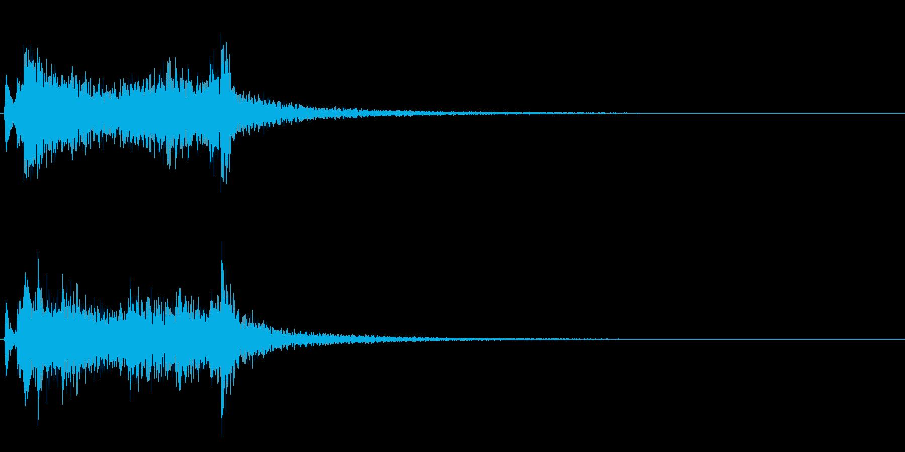 テレレレン…テレレレ…琴の代表的フレーズの再生済みの波形