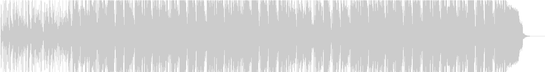 明るいラテン系な雰囲気の軽快な曲の未再生の波形