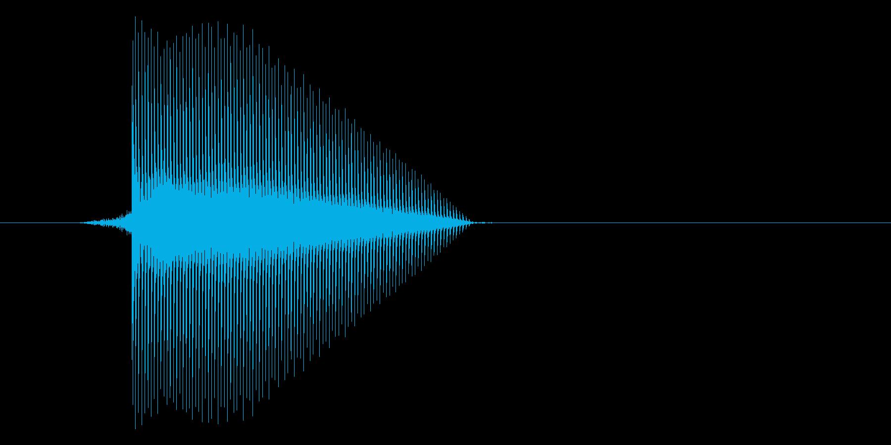ゲーム(ファミコン風)セレクト音_006の再生済みの波形