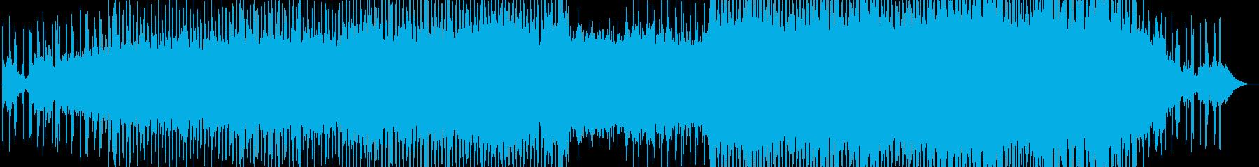 ゆったりとした風変わりなBGMの再生済みの波形