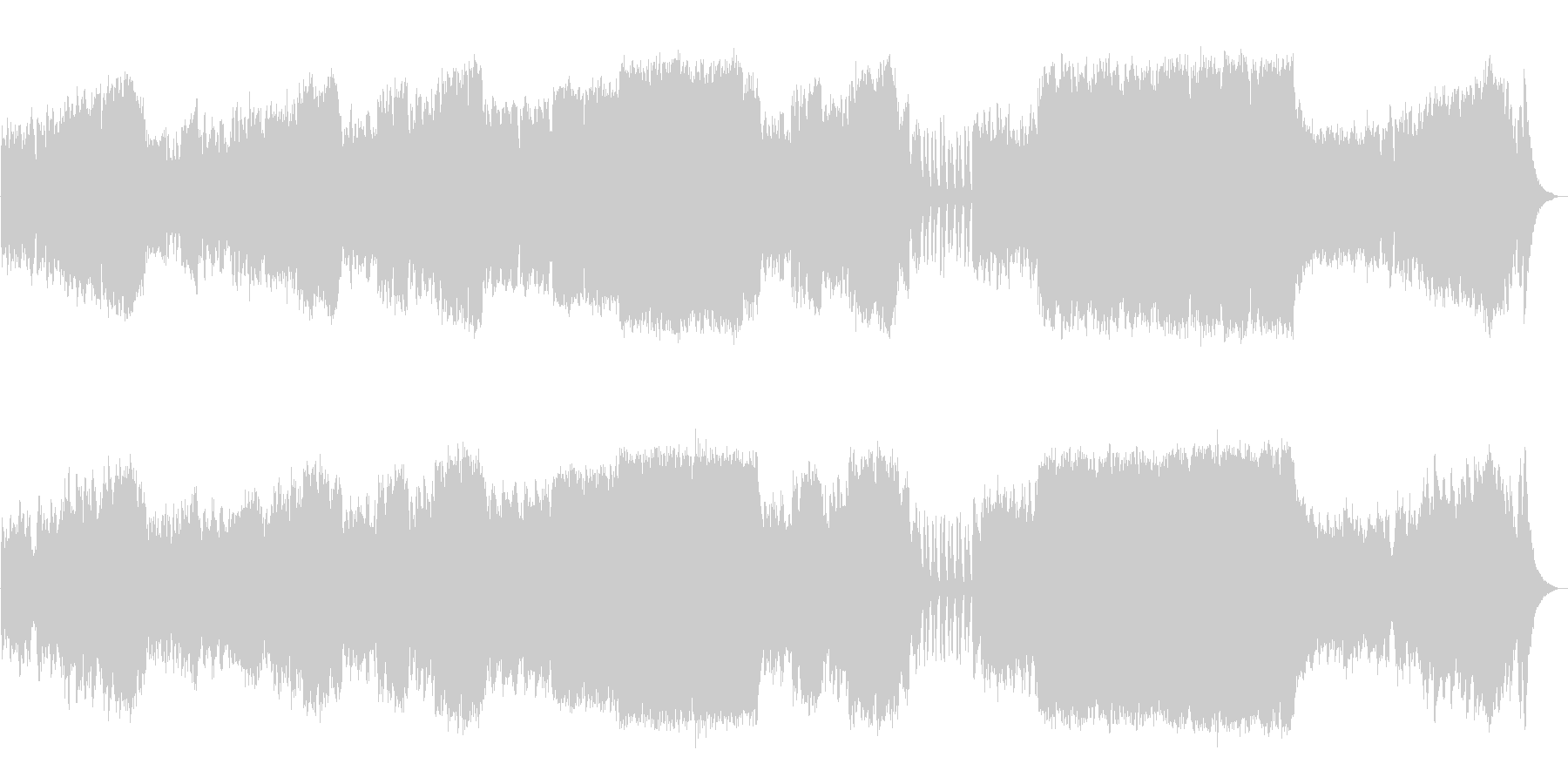 オーケストラにて使用される楽器群を使用…の未再生の波形
