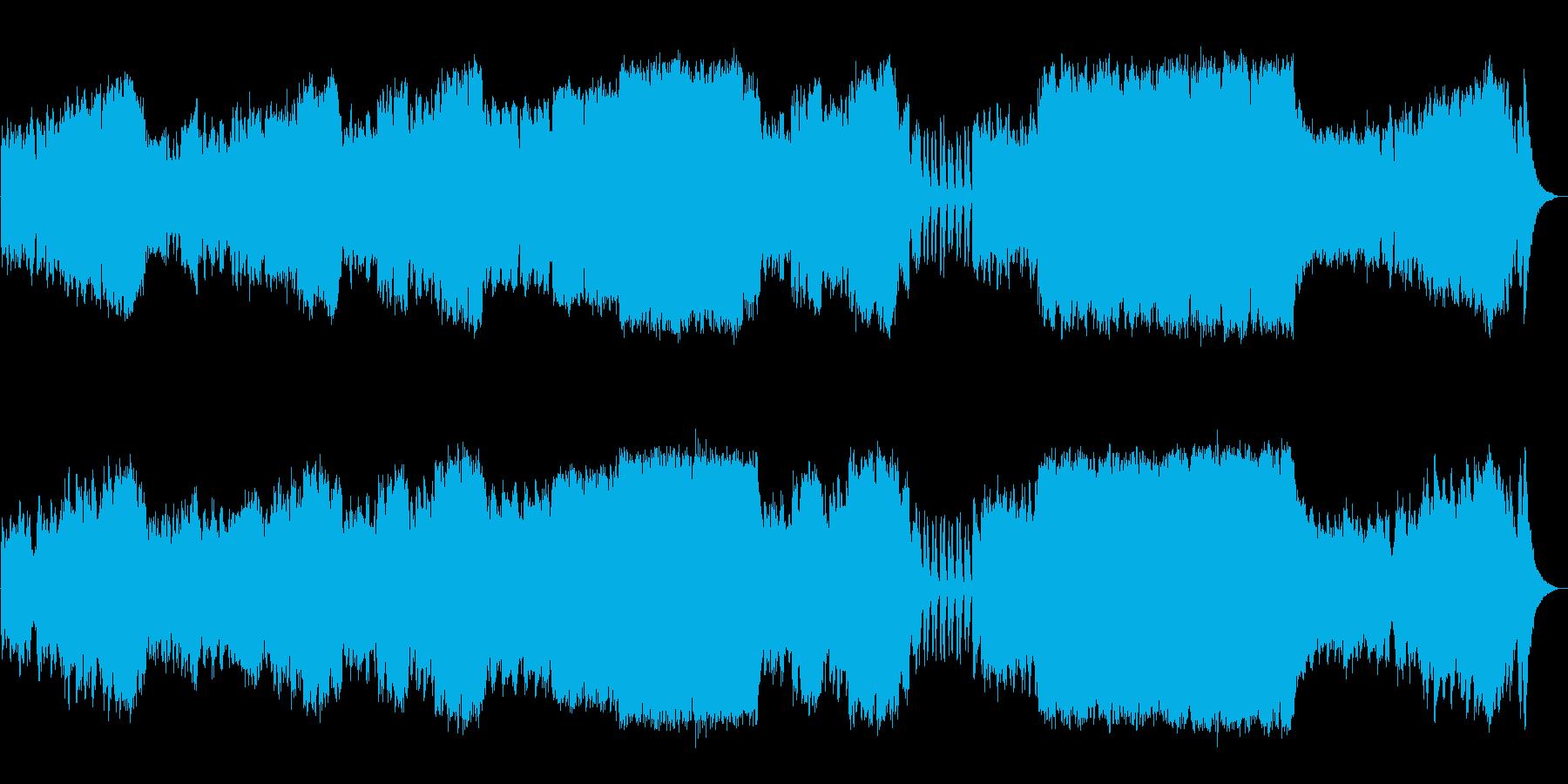 オーケストラにて使用される楽器群を使用…の再生済みの波形