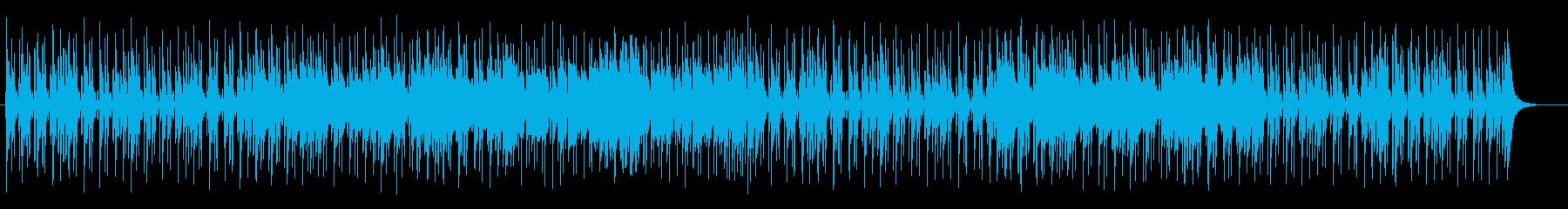 リズミカルでピアノが印象的なハウスの再生済みの波形