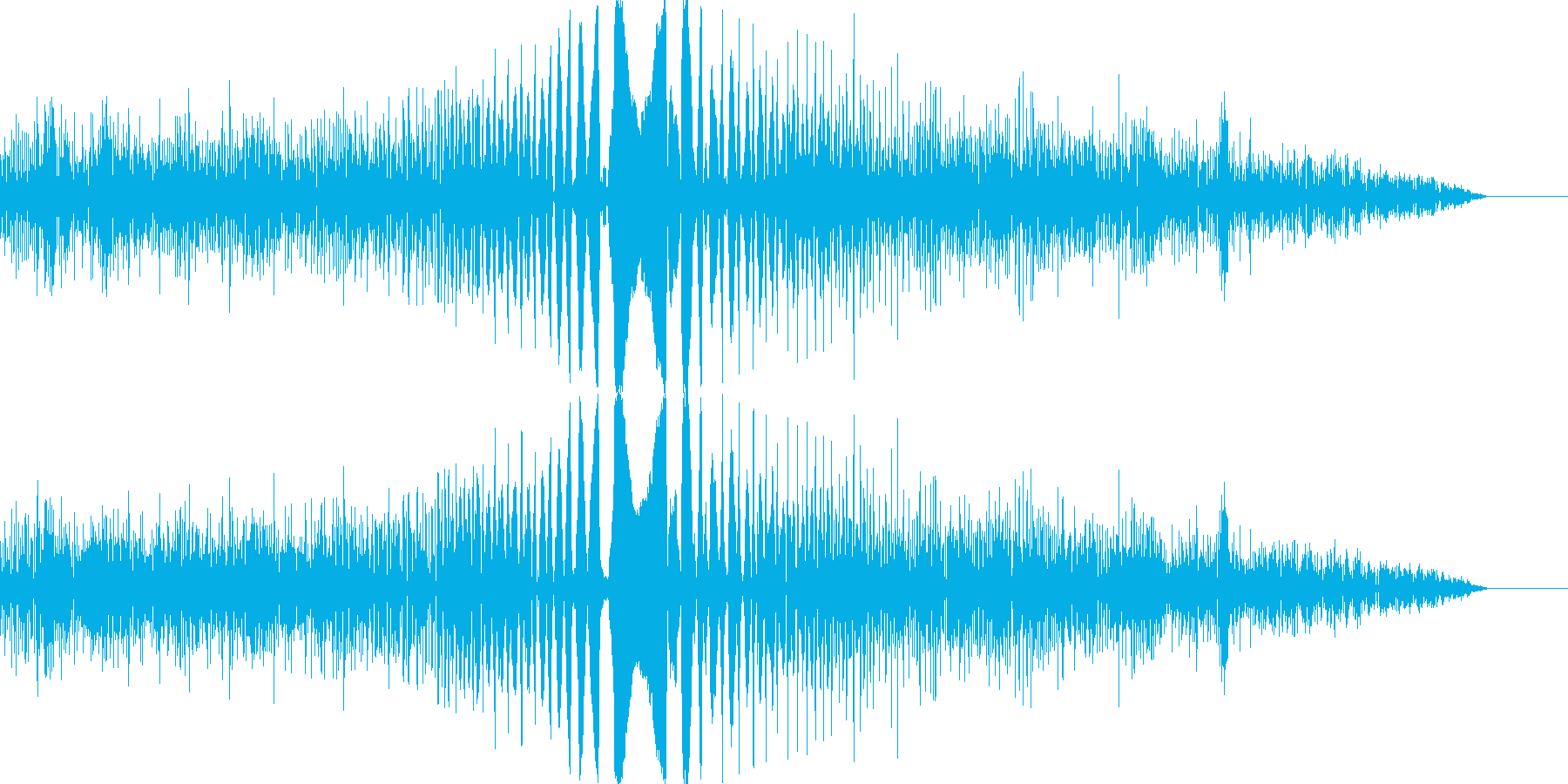 決定/ボタン押下音(コミカル)の再生済みの波形