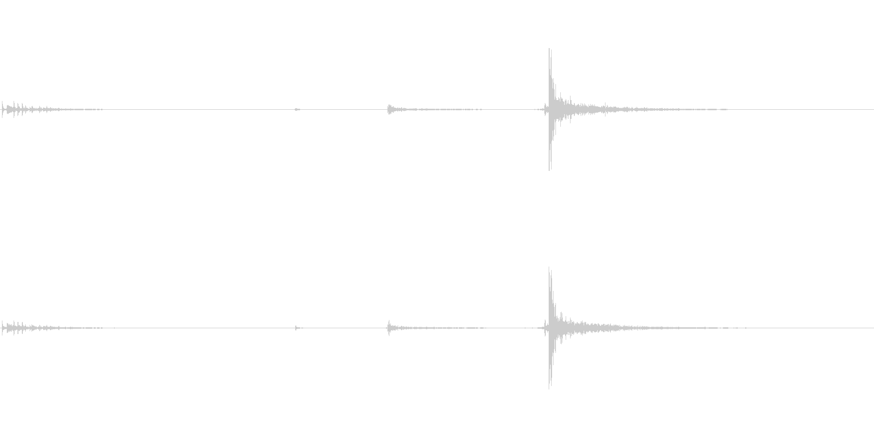 バタンの未再生の波形