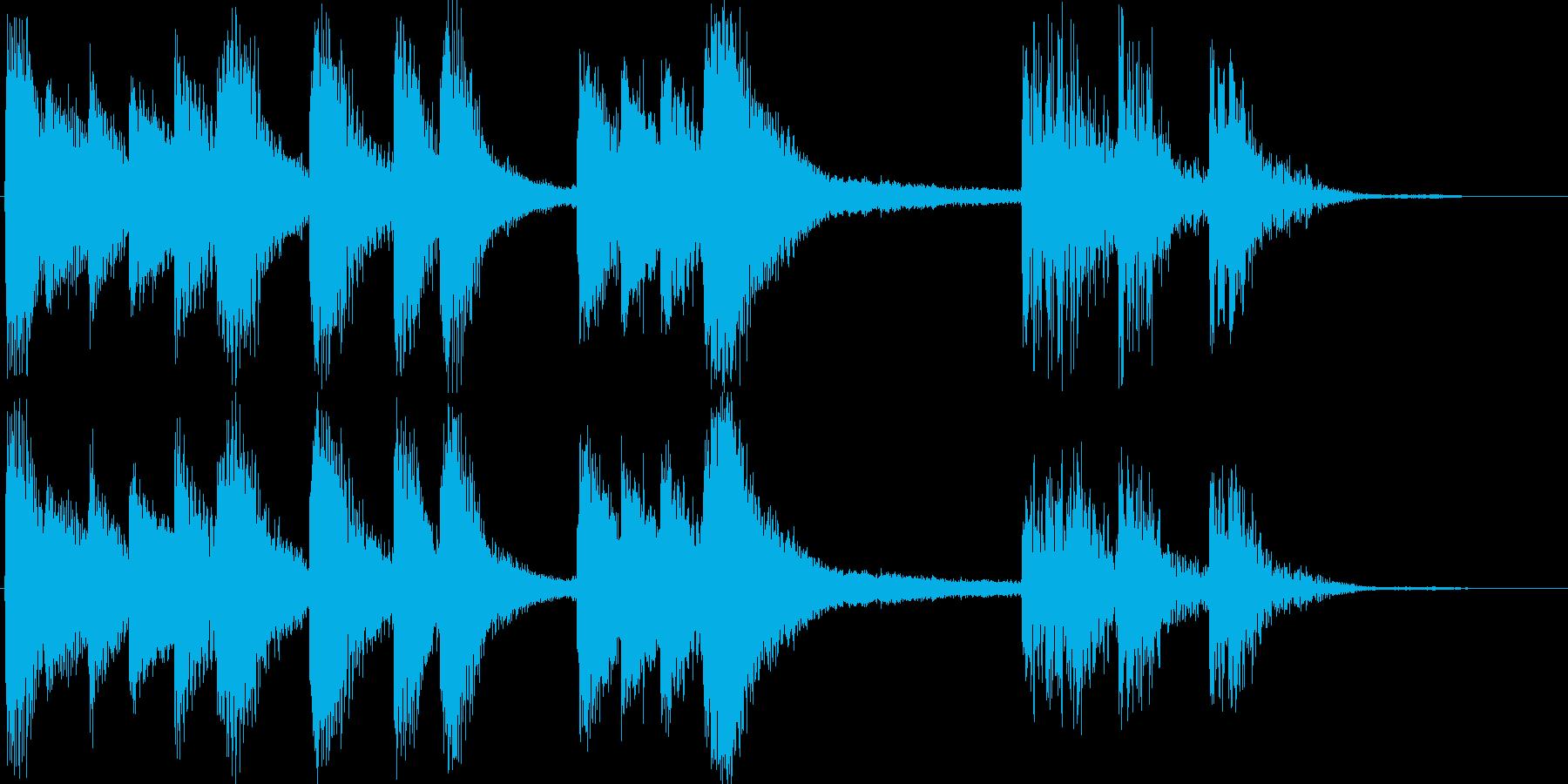 金属的な響きを持ったジングルの再生済みの波形