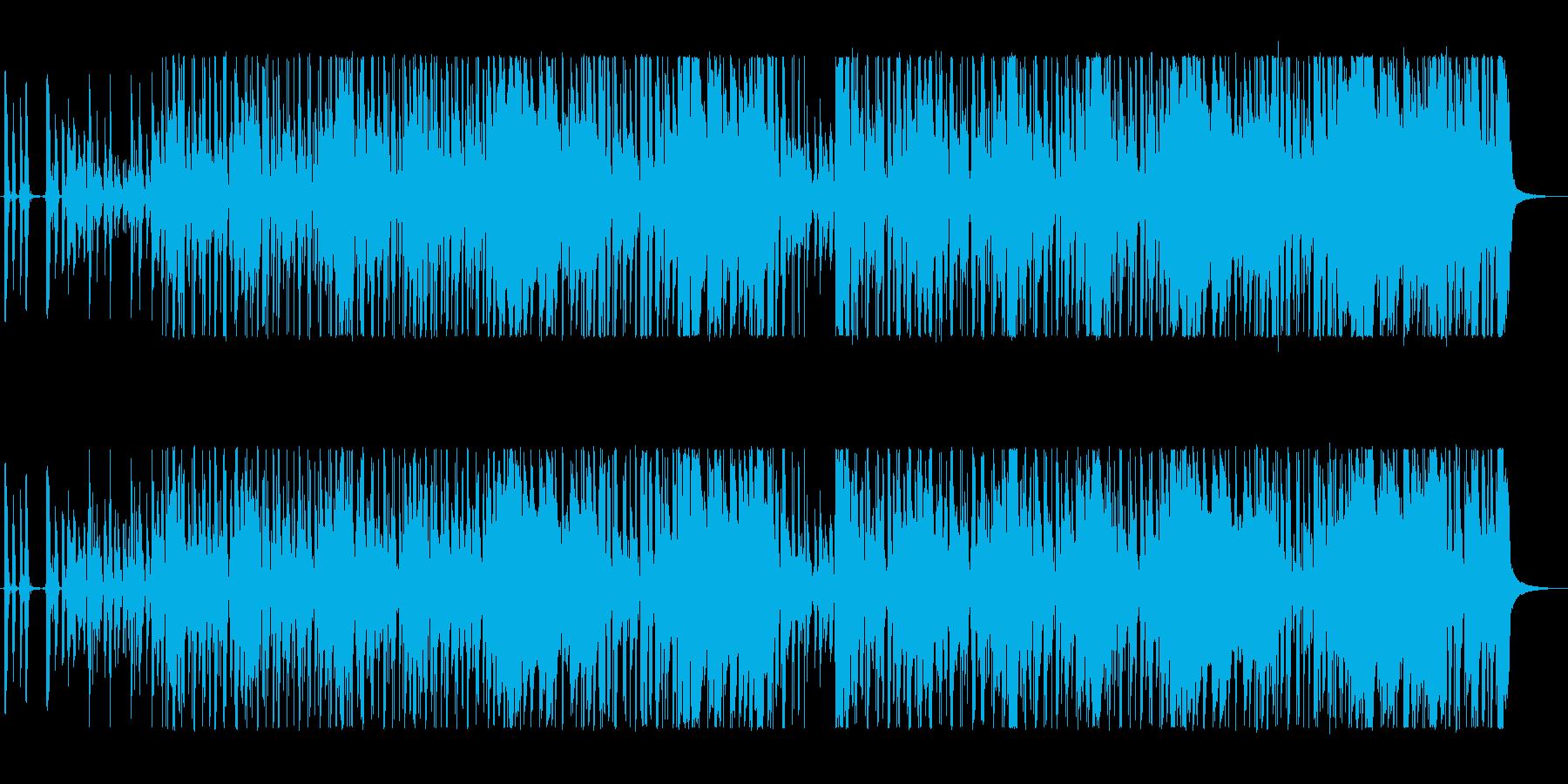 ベースとギターがかっこいいジャズロックの再生済みの波形