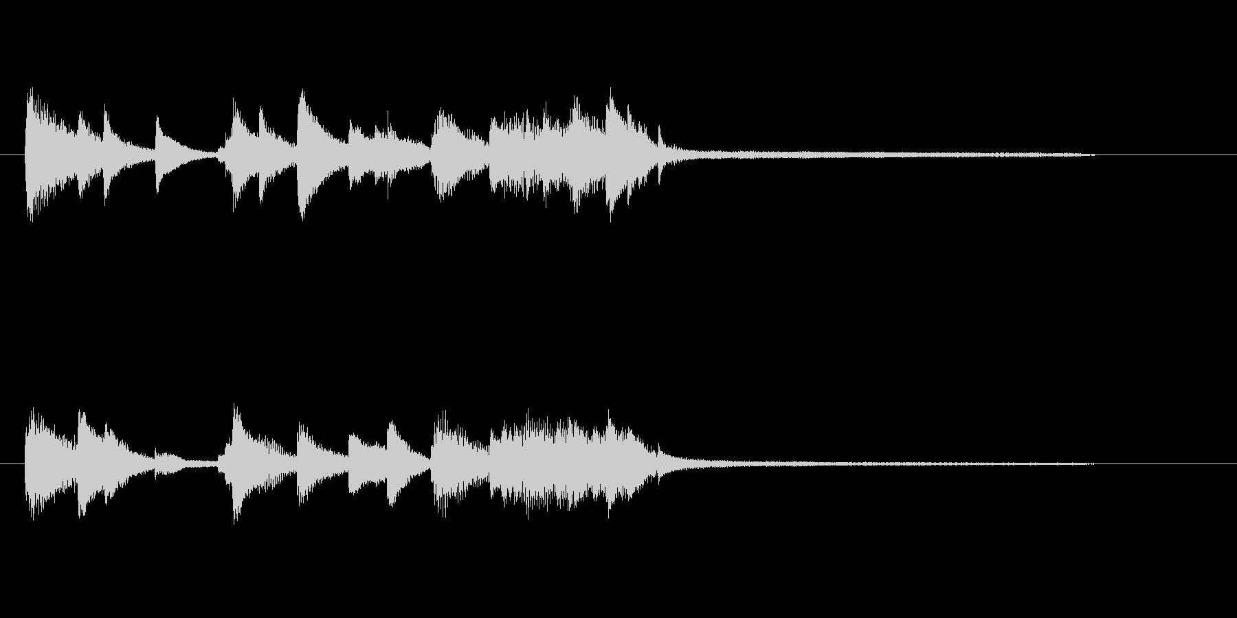 きれいで上品ピアノジングル、サウンドロゴの未再生の波形