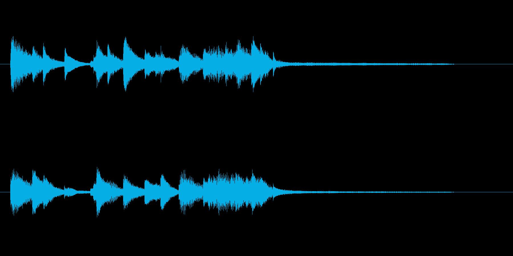 きれいで上品ピアノジングル、サウンドロゴの再生済みの波形