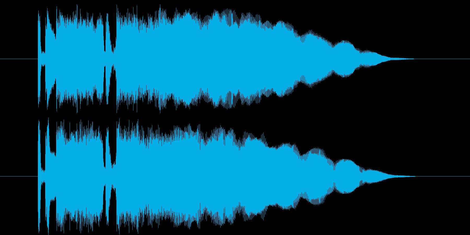 どこか馴染みのあるロックフレーズの再生済みの波形