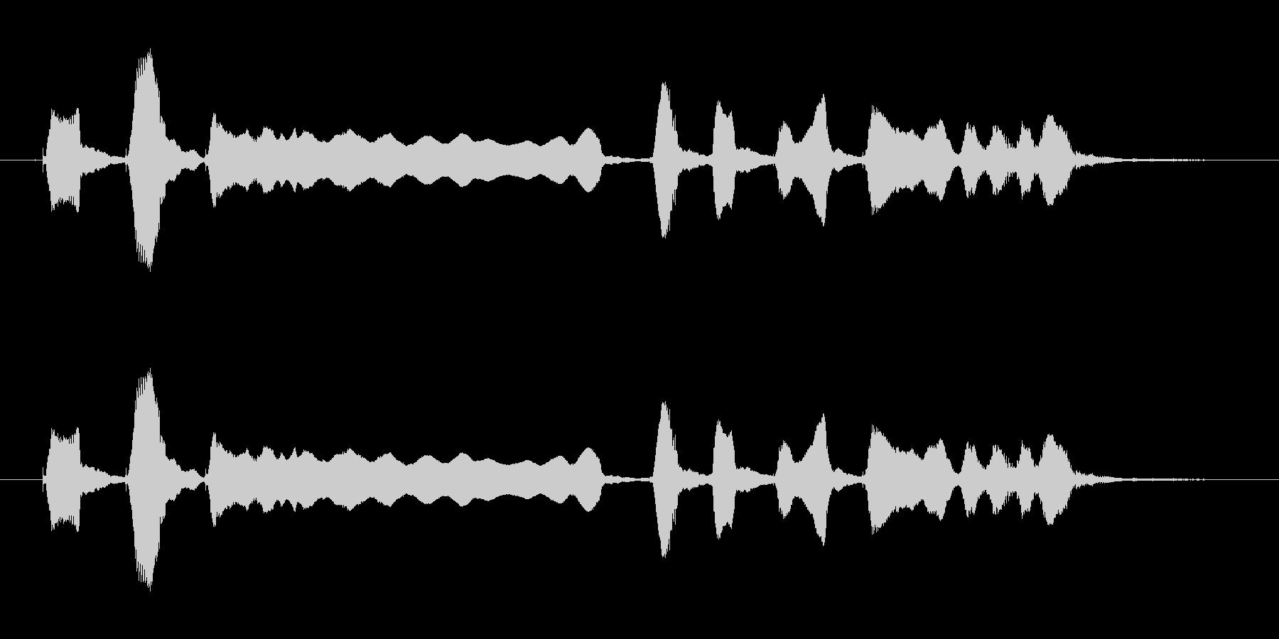 ブルースハープ音源の未再生の波形