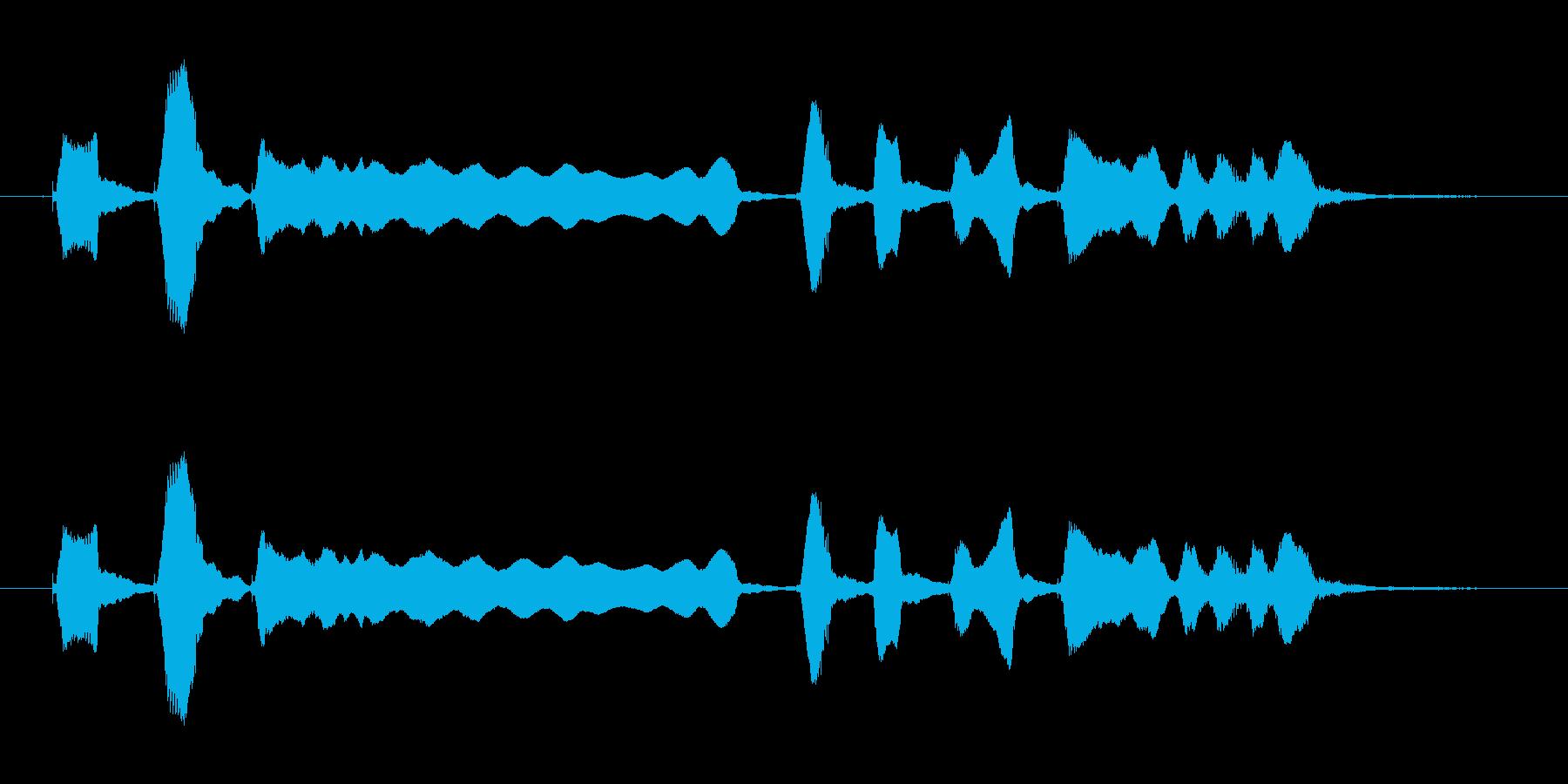 ブルースハープ音源の再生済みの波形