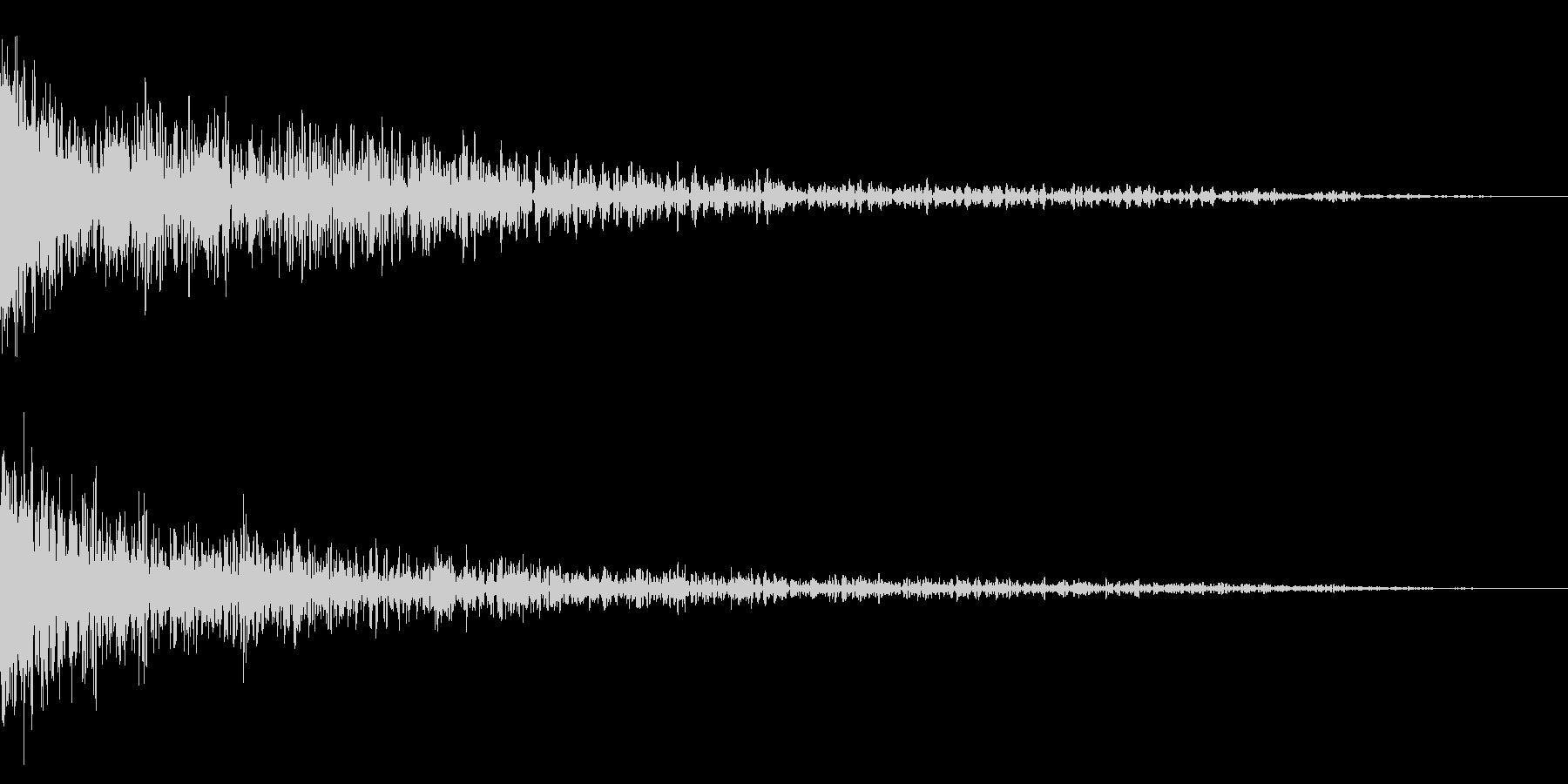 ホラー系アタック音23の未再生の波形
