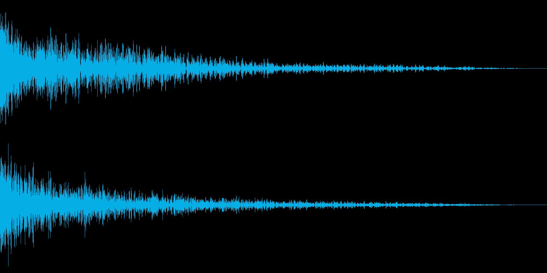 ホラー系アタック音23の再生済みの波形