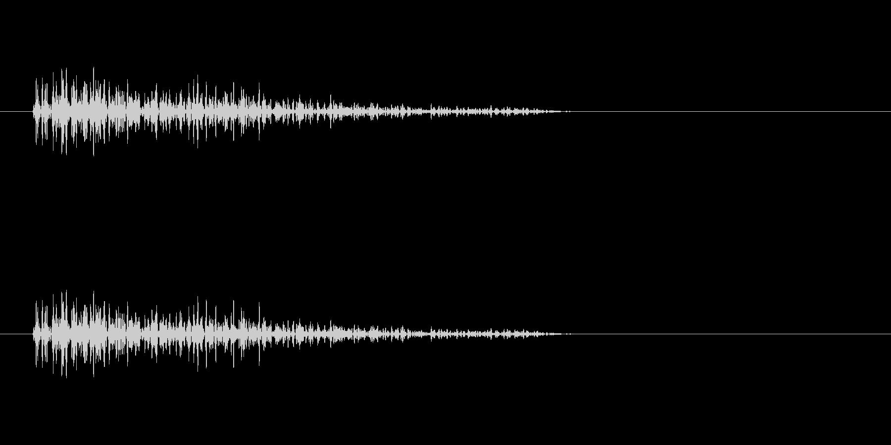 バーン(爆発音)2の未再生の波形