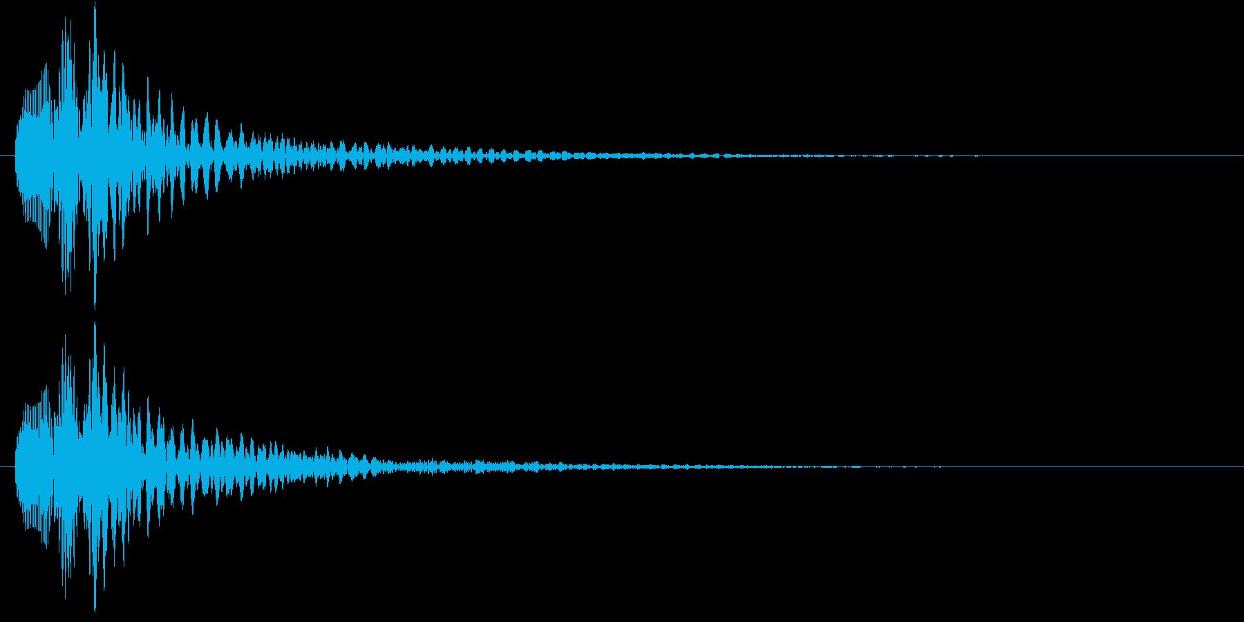 明るめのマリンバのアルペッジオの再生済みの波形