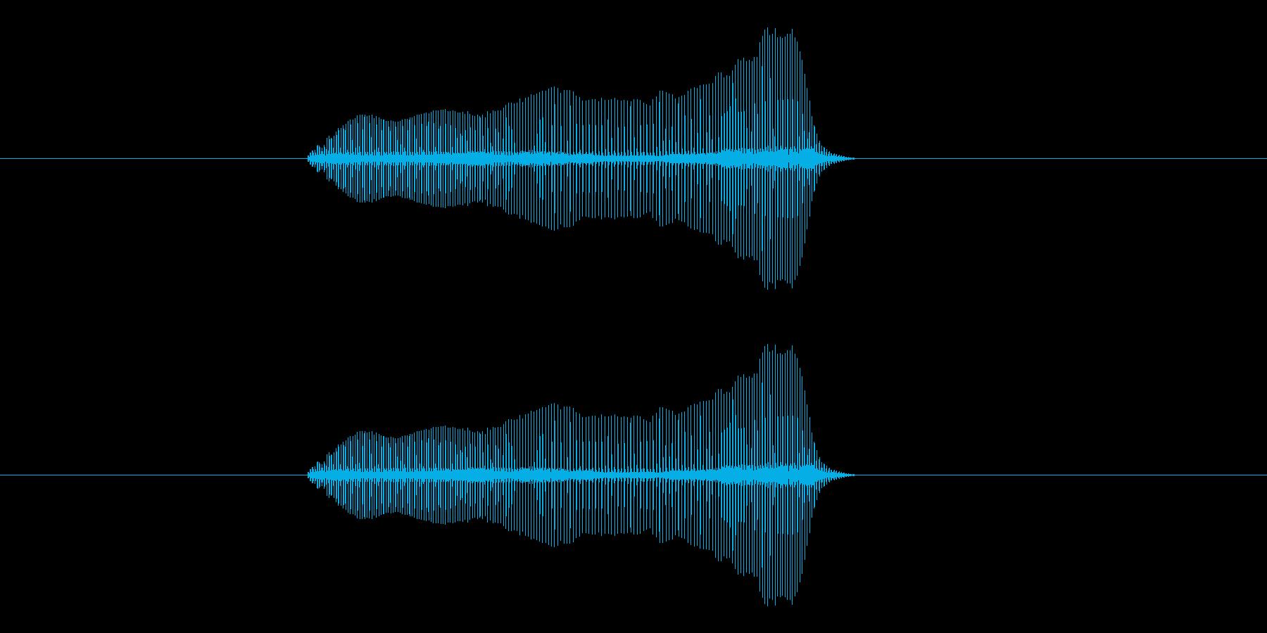 トロンボーンあるあるフレーズBPM300の再生済みの波形