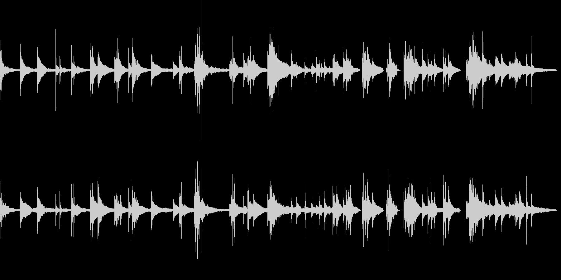 ほわっとした、主張しないピアノソロ即興の未再生の波形