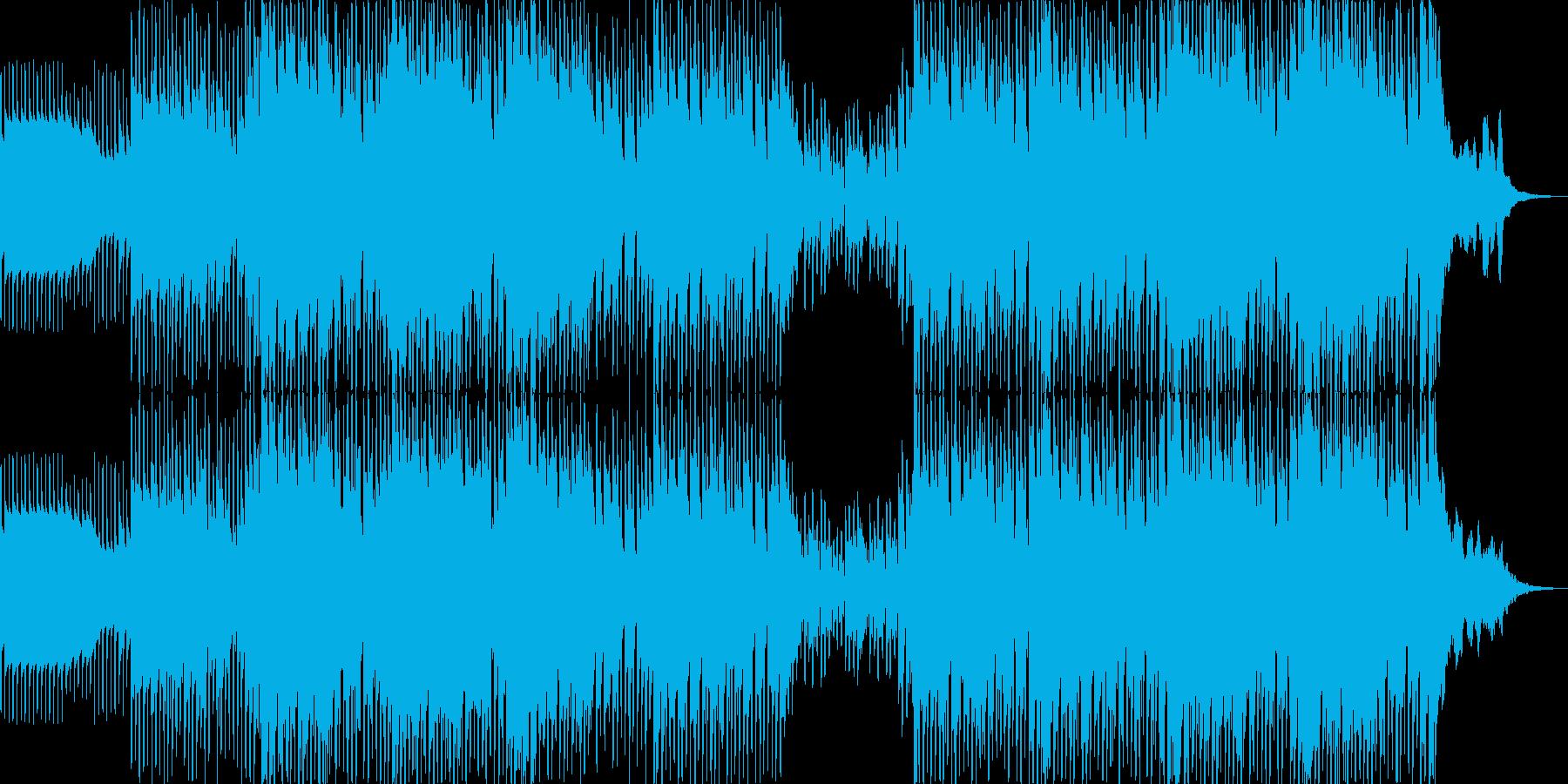 力強いイメージのテクノの再生済みの波形