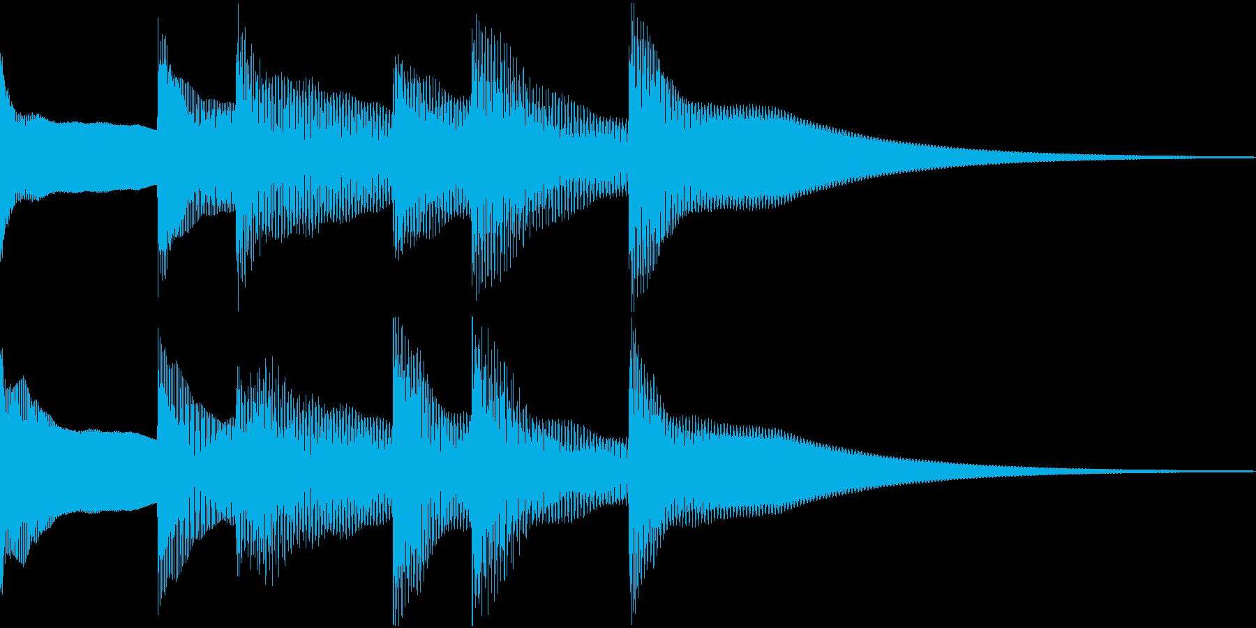 シンプルベル お知らせ ハテナ ? 22の再生済みの波形