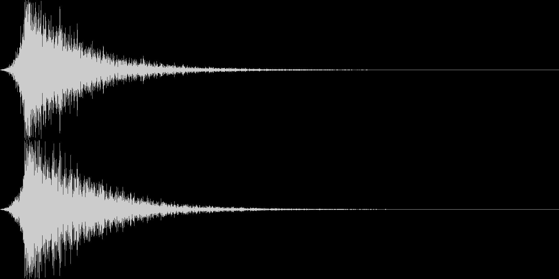打撃音・爆発音・ヒット1-シュードーンッの未再生の波形