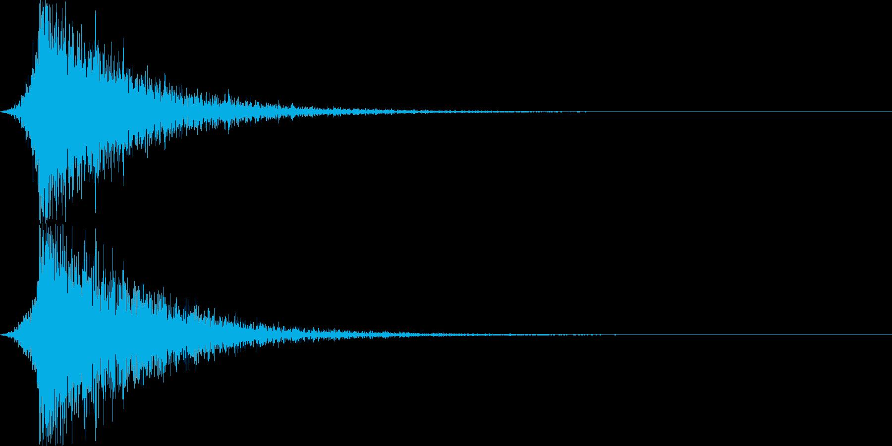 打撃音・爆発音・ヒット1-シュードーンッの再生済みの波形