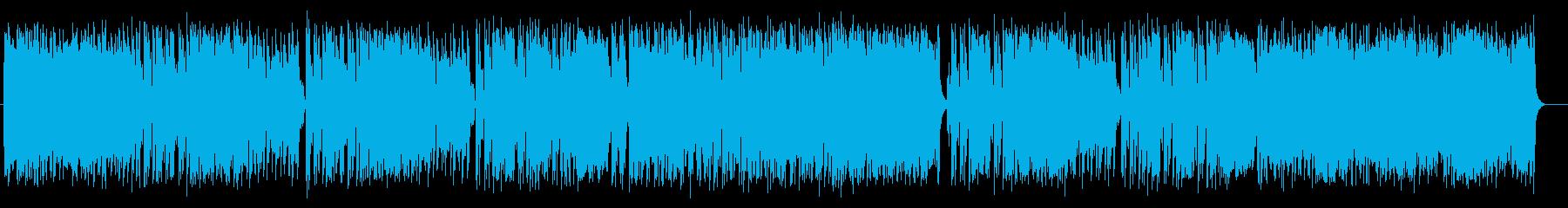 ミディアムテンポのポップスの再生済みの波形