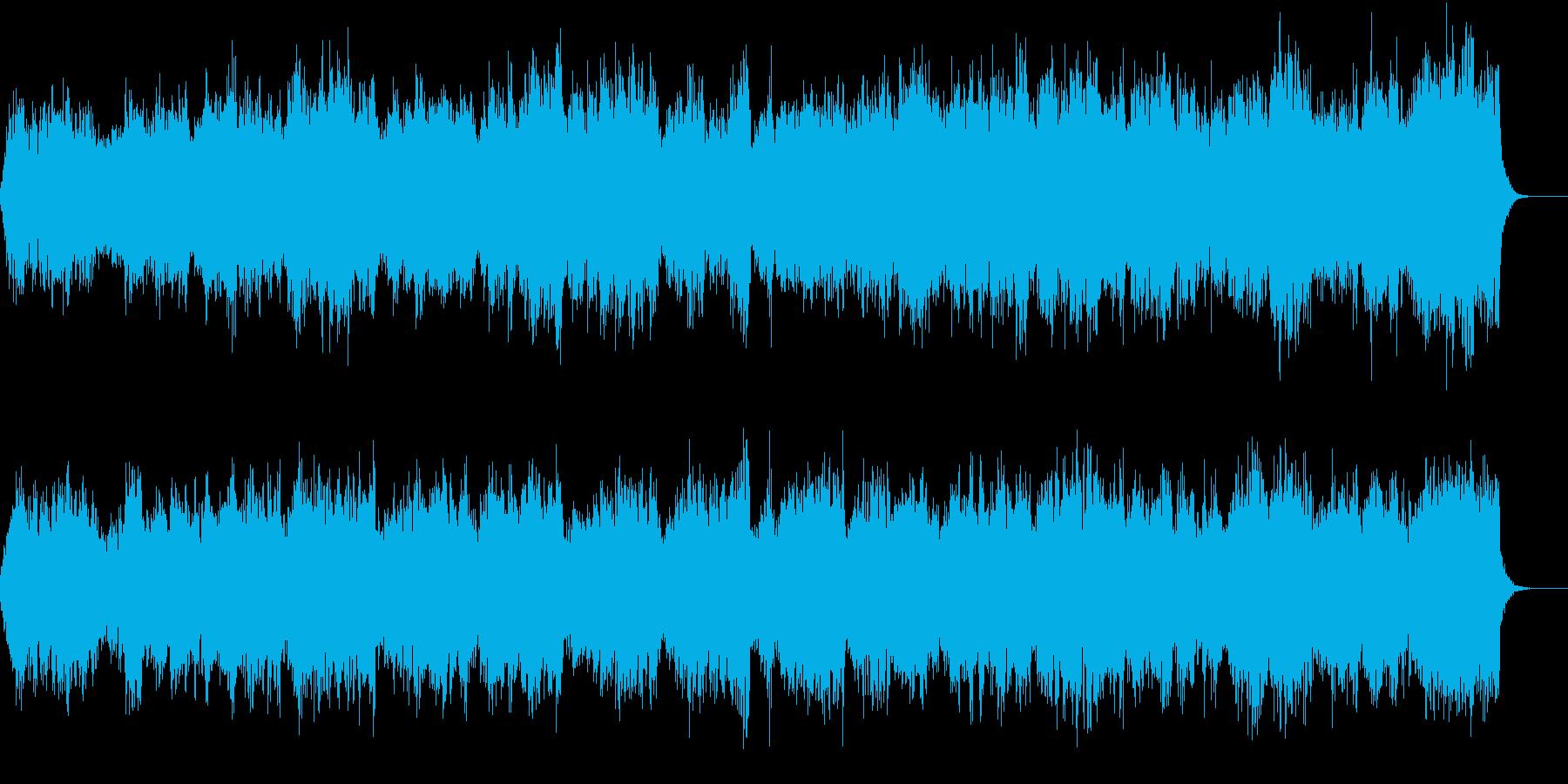 感動的で荘厳な雰囲気の合唱曲の再生済みの波形