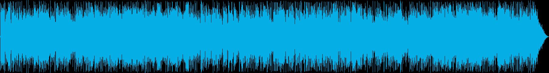 ムードのあるエレキギターの曲の再生済みの波形