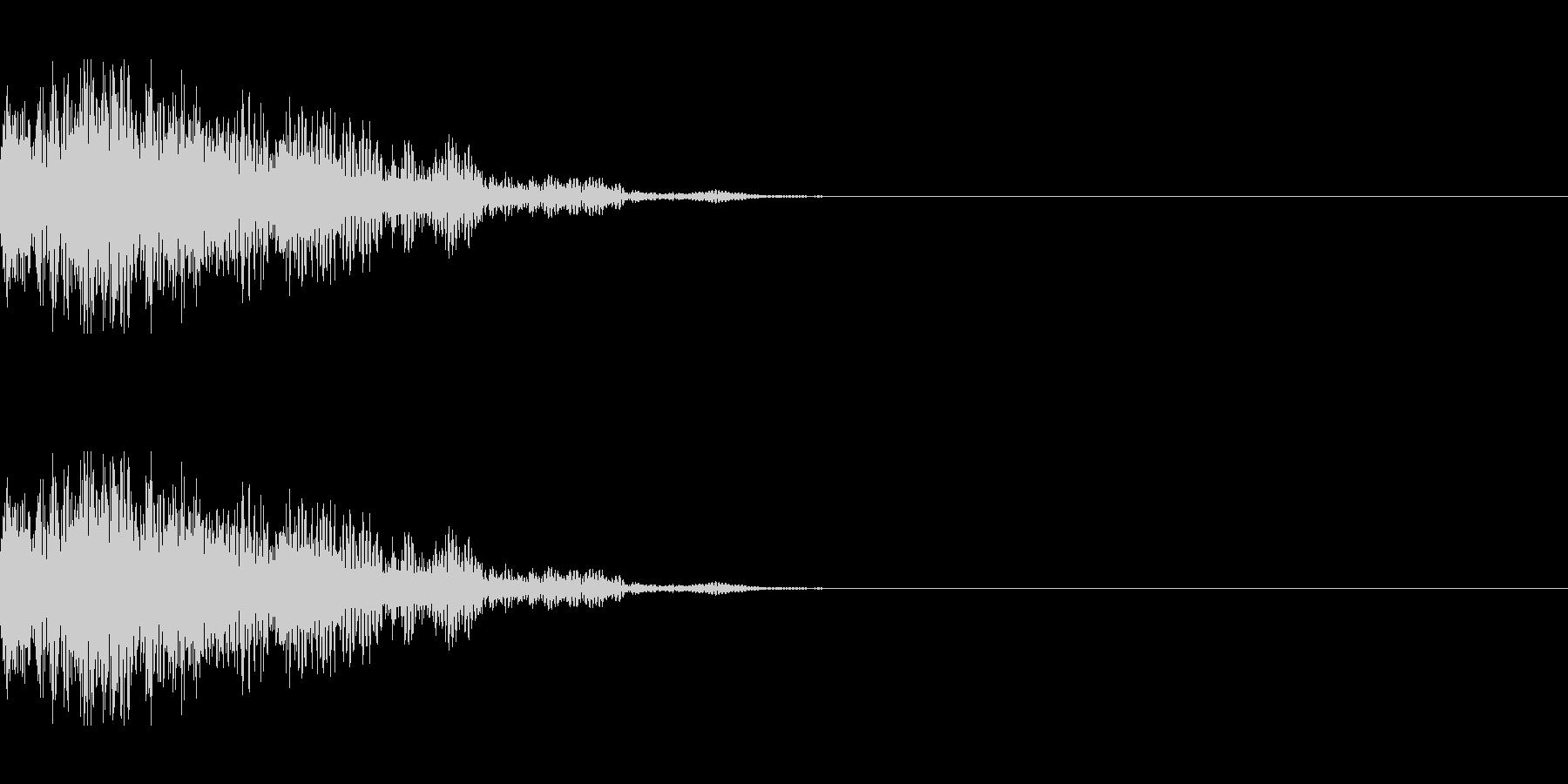 爆発(中規模)の未再生の波形