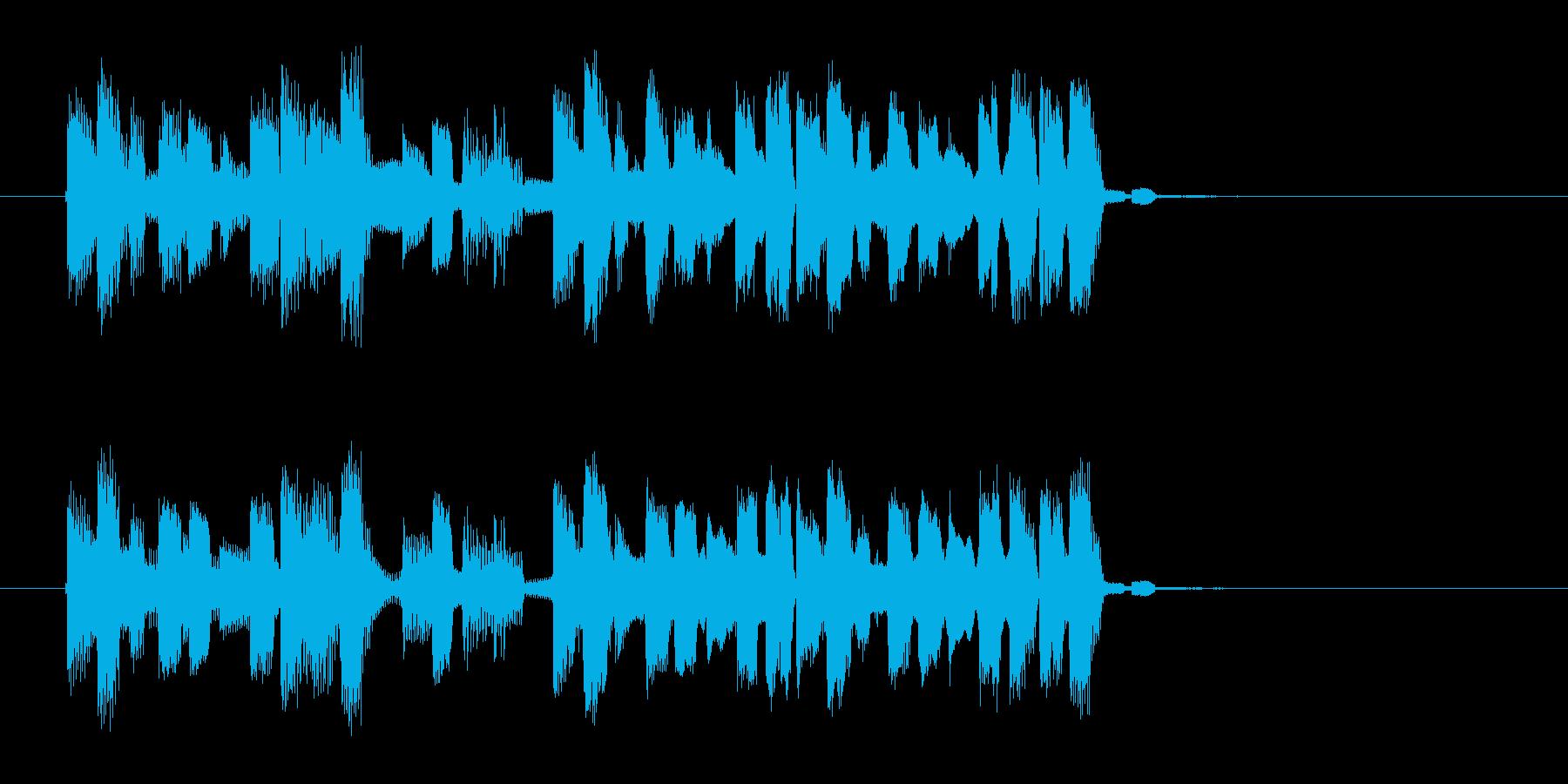 宇宙感のあるシンセギターサウンド(短め)の再生済みの波形