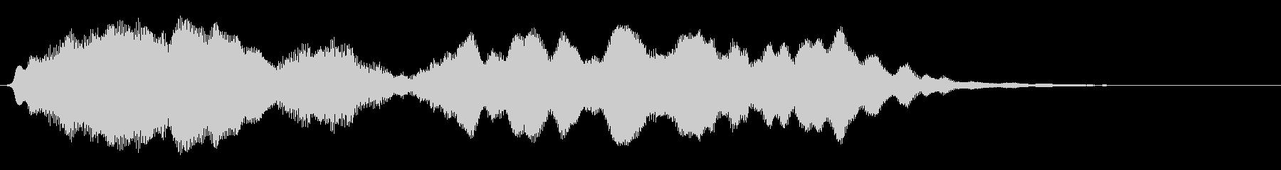 フルートの明るいジングル・場面転換3の未再生の波形