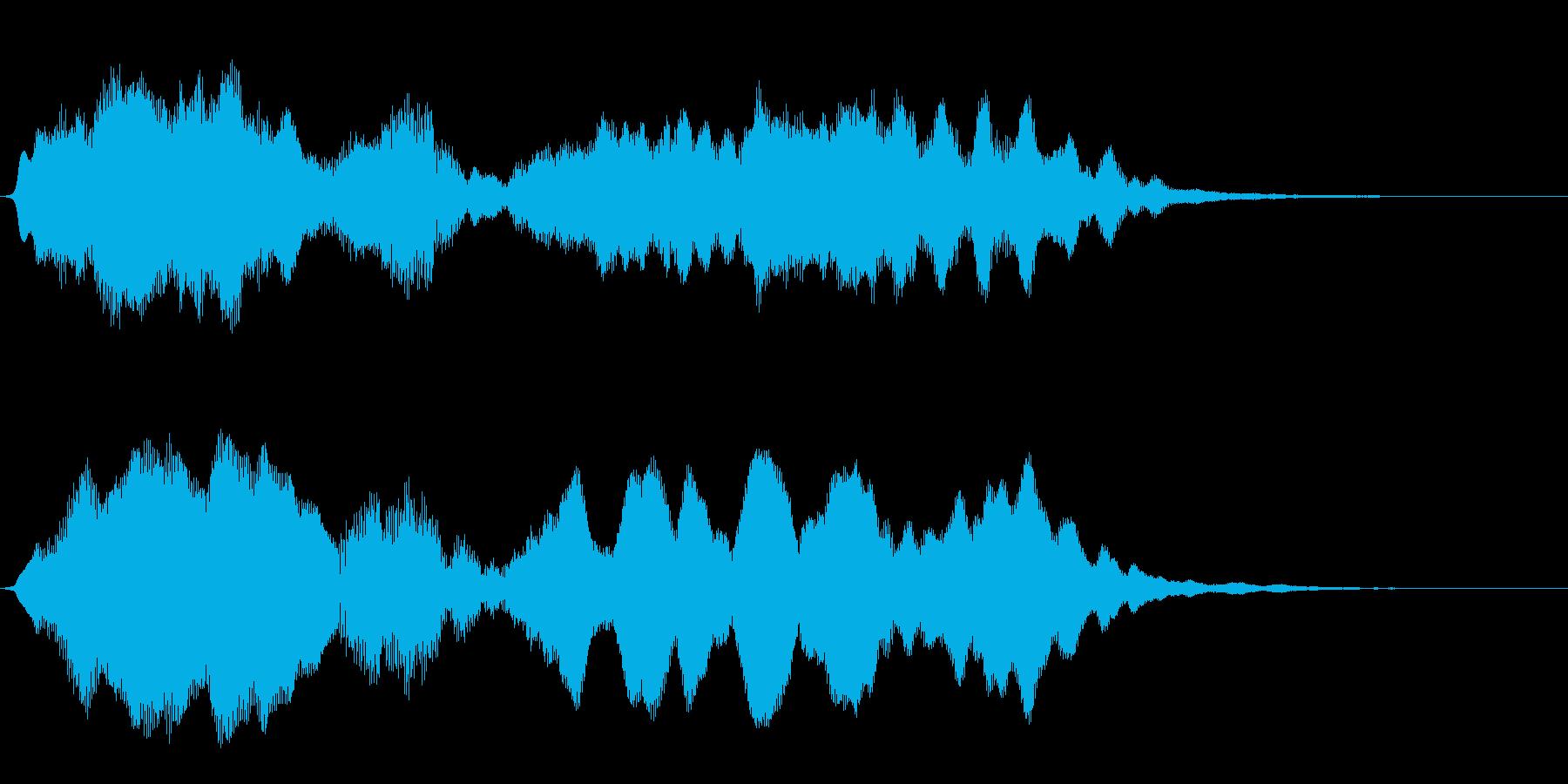 フルートの明るいジングル・場面転換3の再生済みの波形