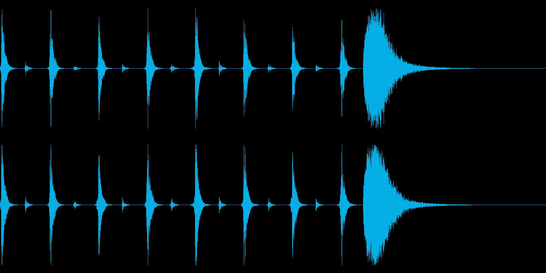 シンキングタイム用/秒針の効果音 !2の再生済みの波形