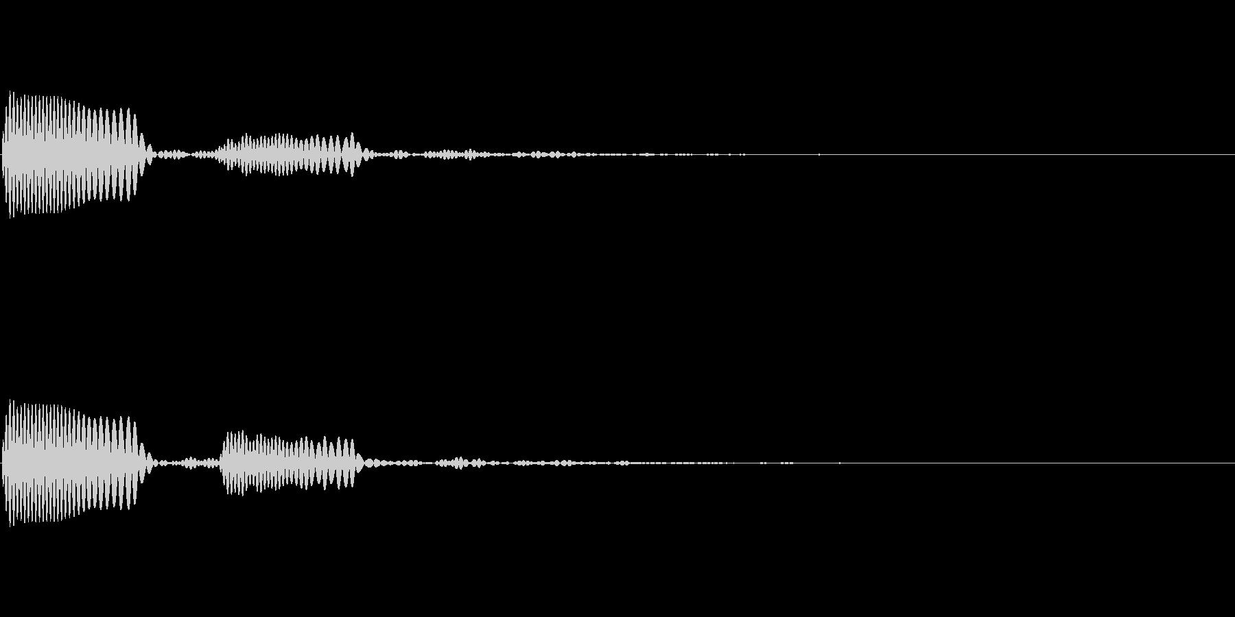 シュルン(ゲーム・アプリのキャンセル音)の未再生の波形