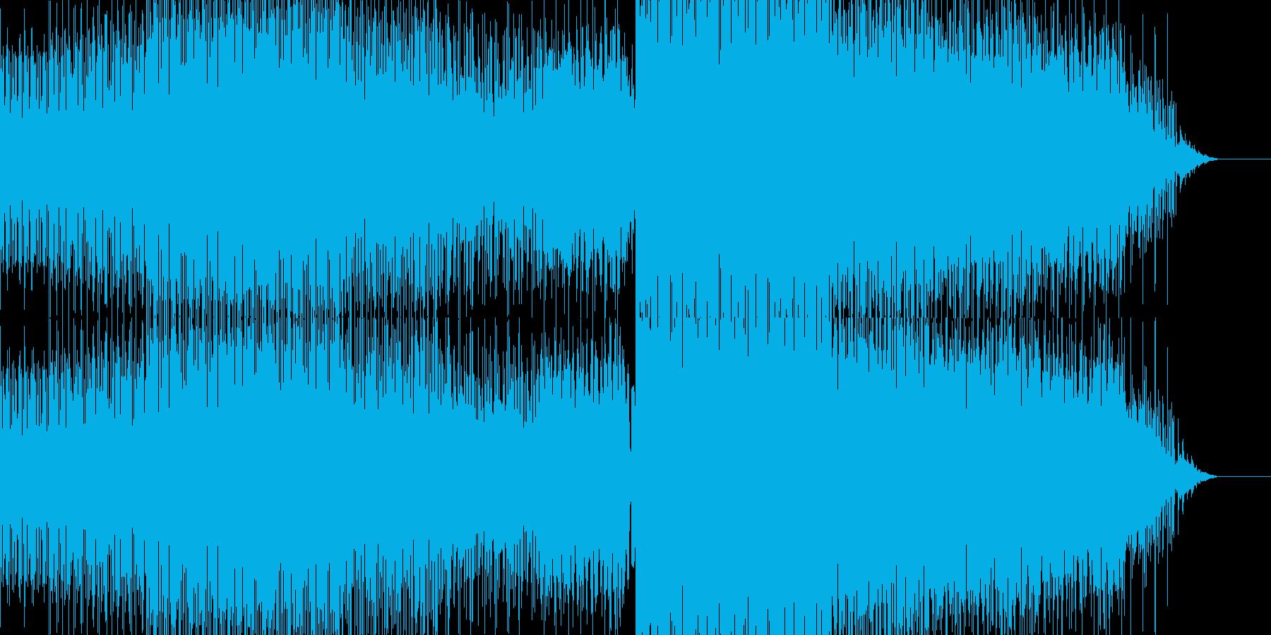 ブレイクビーツBGM4の再生済みの波形