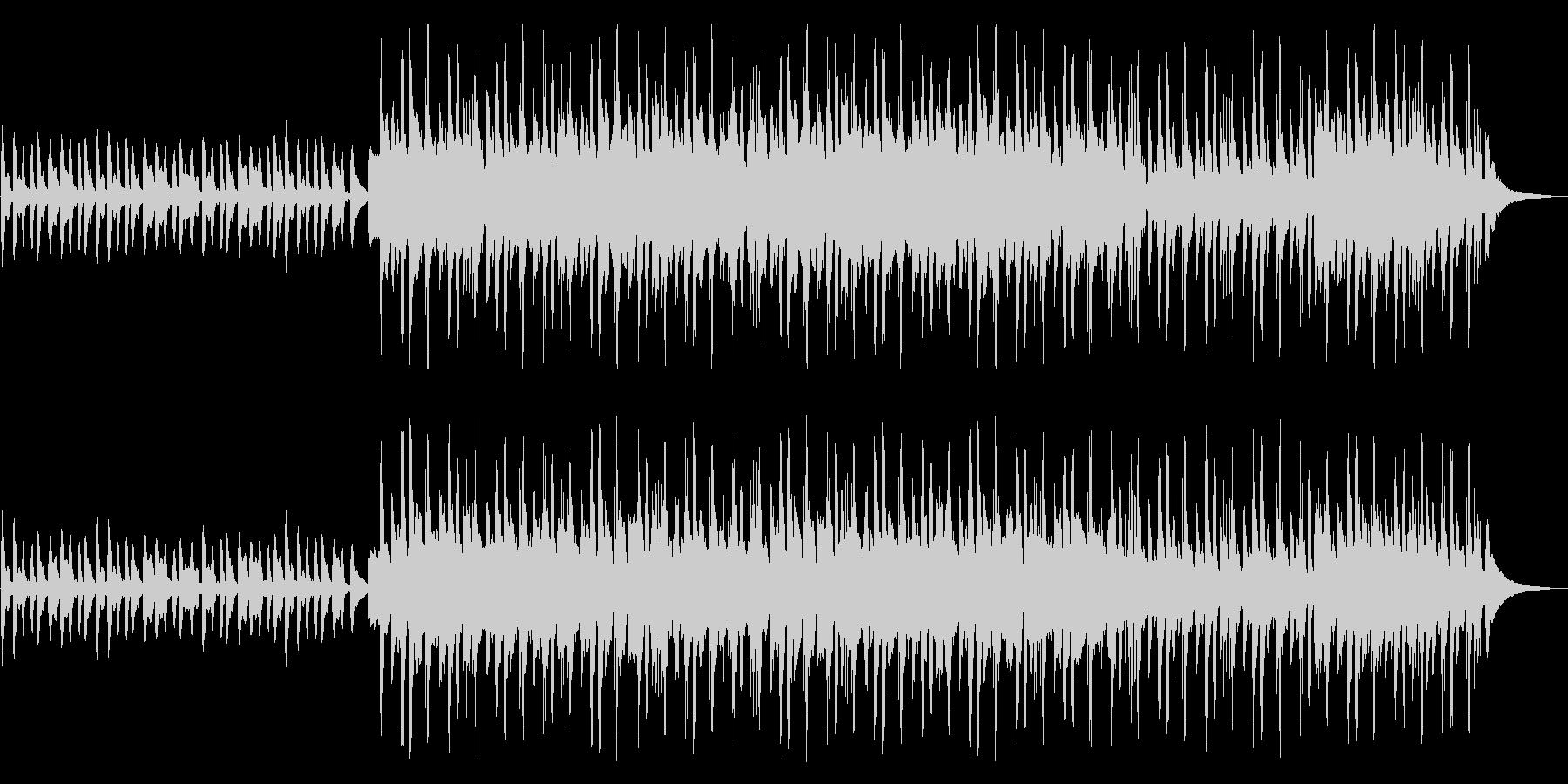 ほんわかと穏やかな映像BGMの未再生の波形