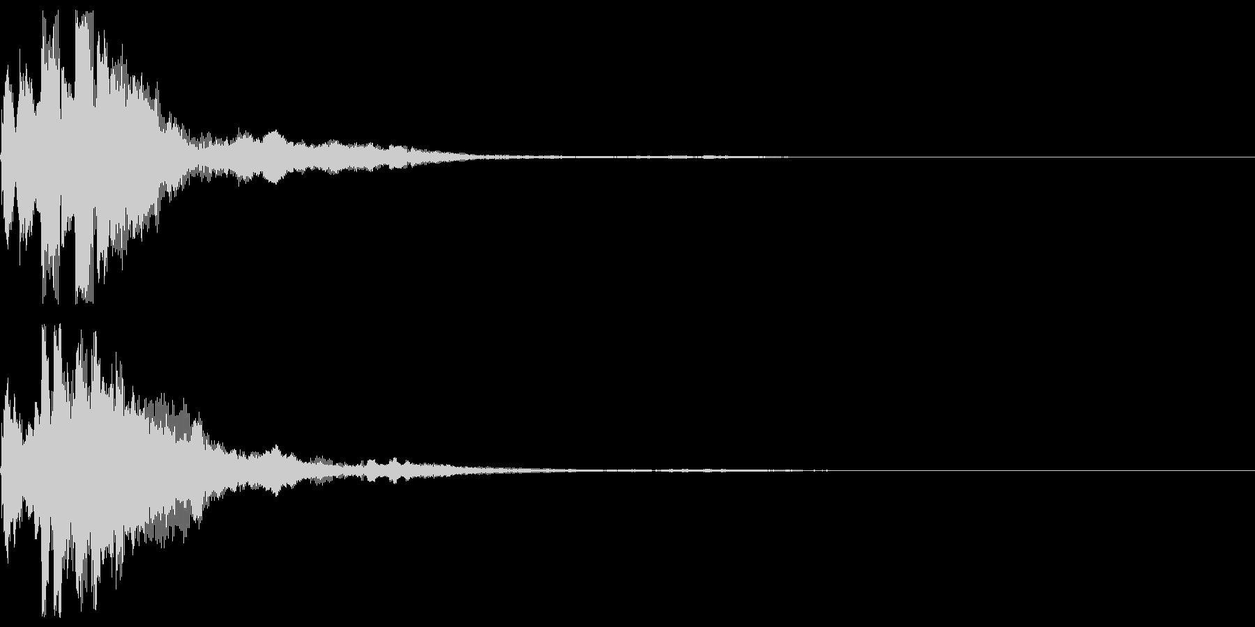 ピコン 雫のような瑞々しいボタン音の未再生の波形