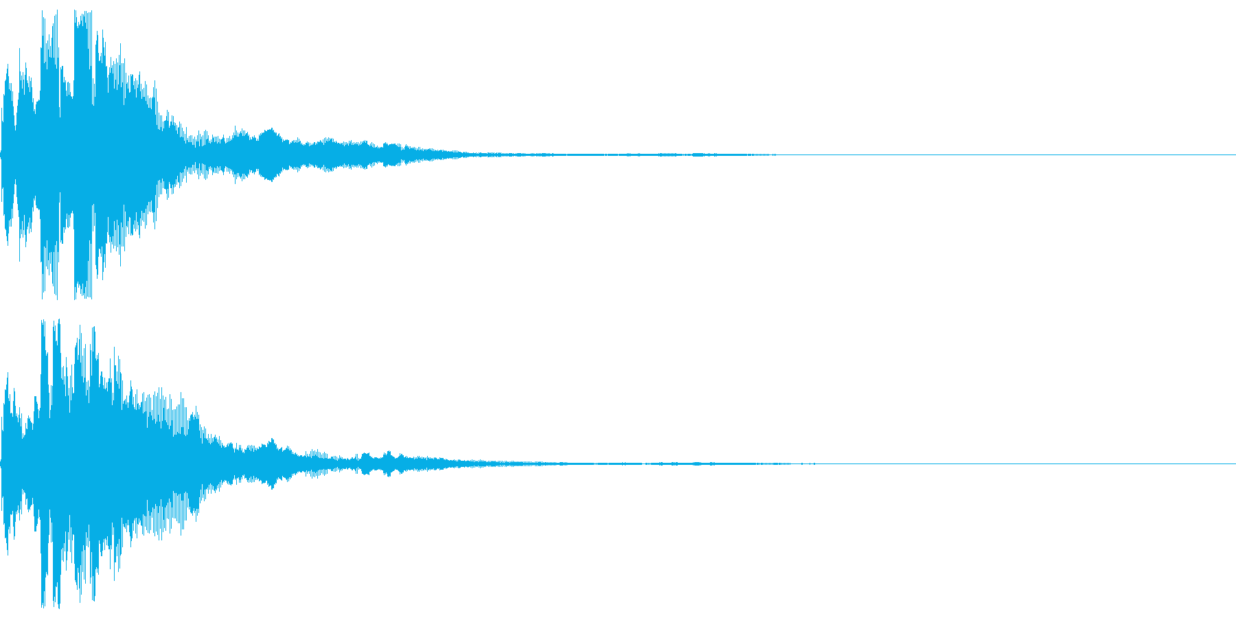 ピコン 雫のような瑞々しいボタン音の再生済みの波形