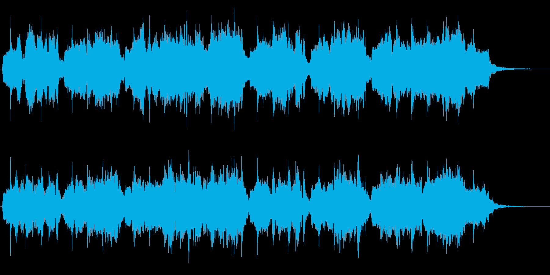 クラリネットの旋律が悲しげなジングルの再生済みの波形