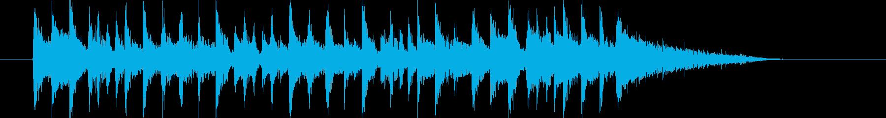 爽やかなポップスによるジングル曲の再生済みの波形