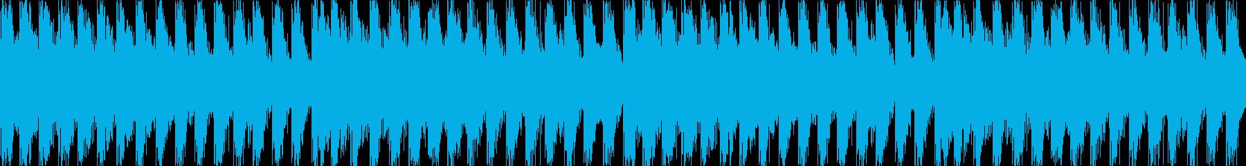 4つ打ちテクノのループ。の再生済みの波形