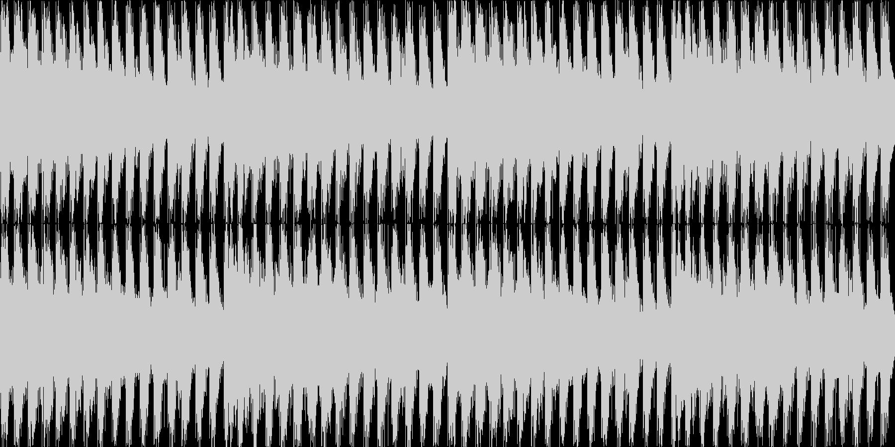 4つ打ちテクノのループ。の未再生の波形