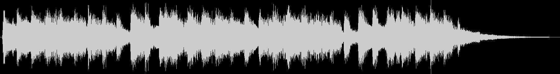 チヤフルなベルが印象的なジングルの未再生の波形