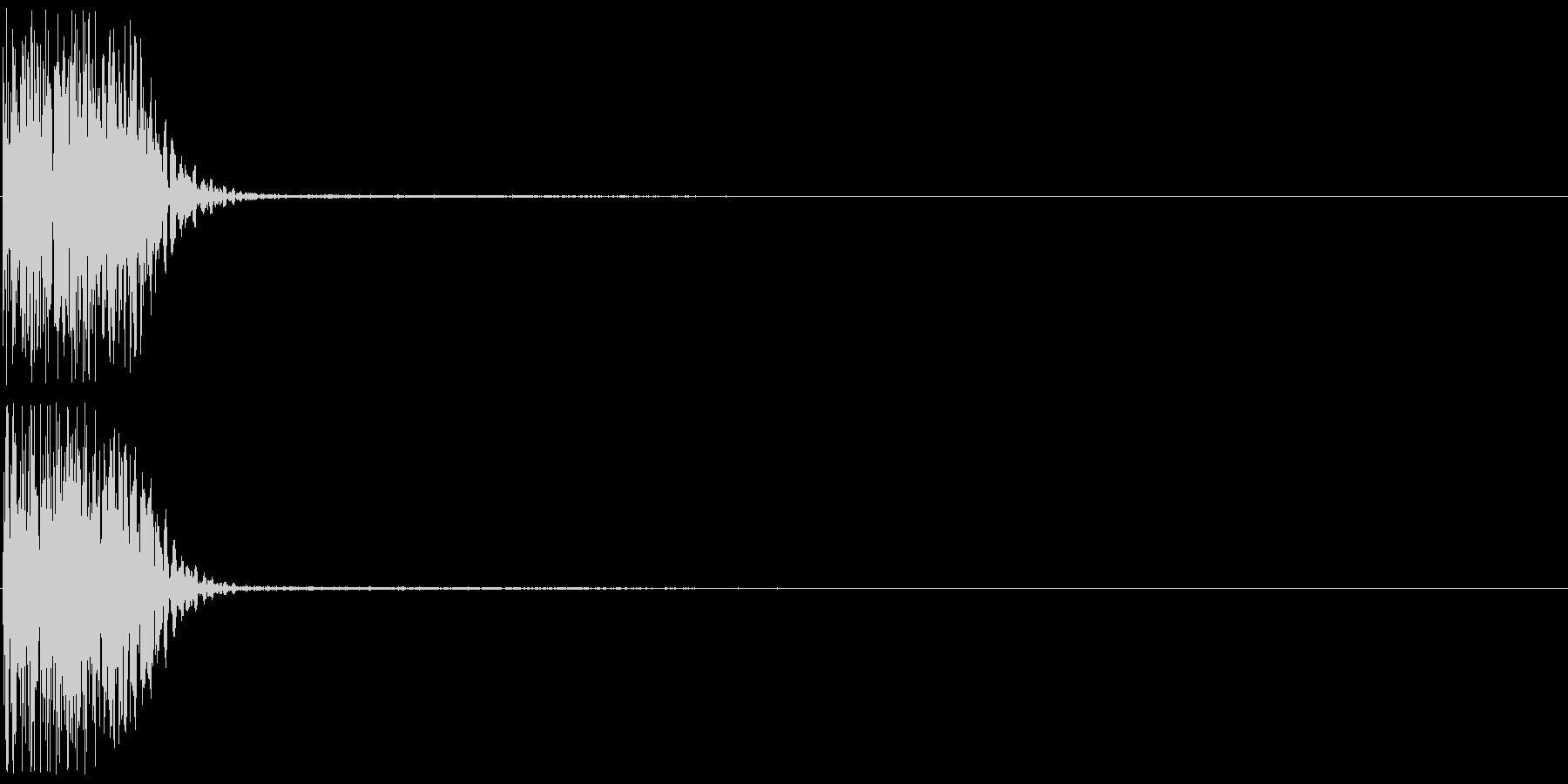 ピコン(ゲーム、アプリ、決定音)の未再生の波形