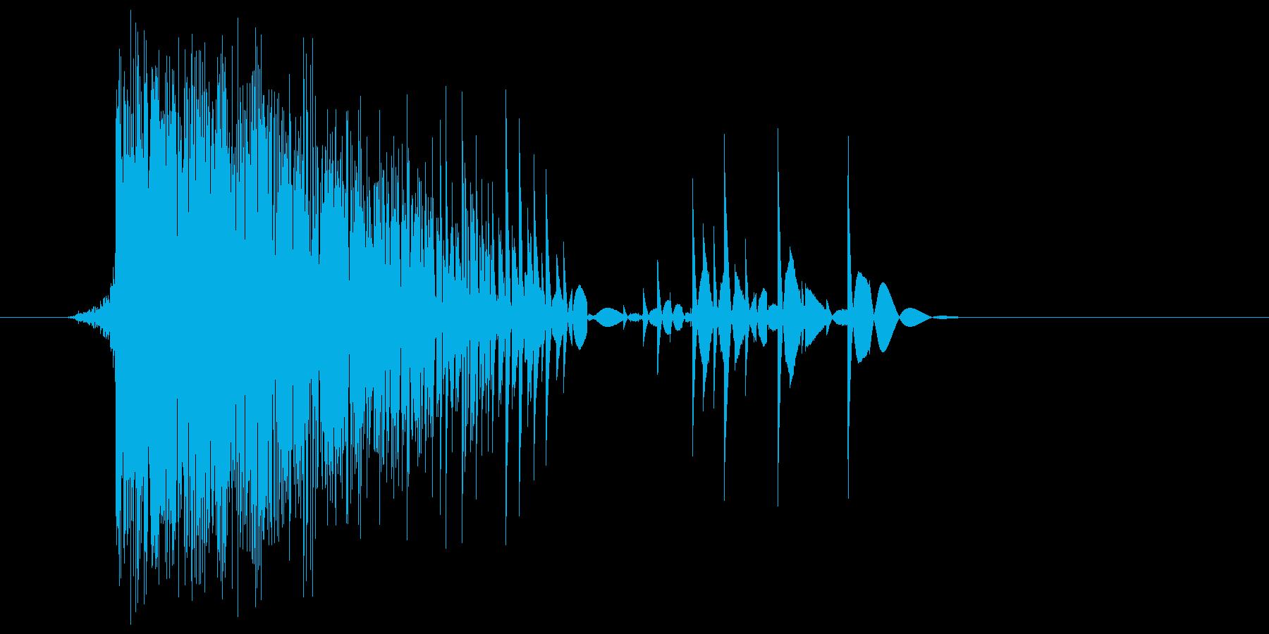 ゲーム(ファミコン風)爆発音_011の再生済みの波形